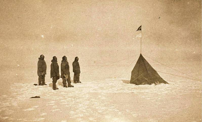 Expedition Members at the Pole