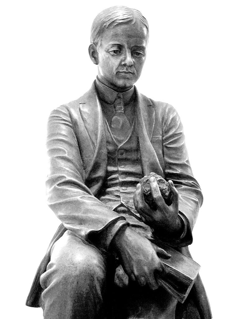 Aluminum statue of Charles Martin Hall