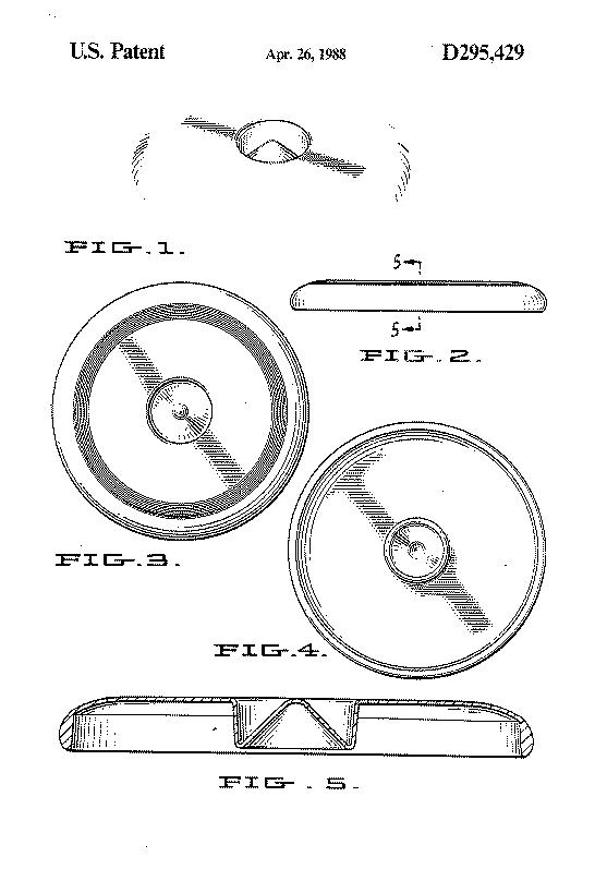US Patent D295429