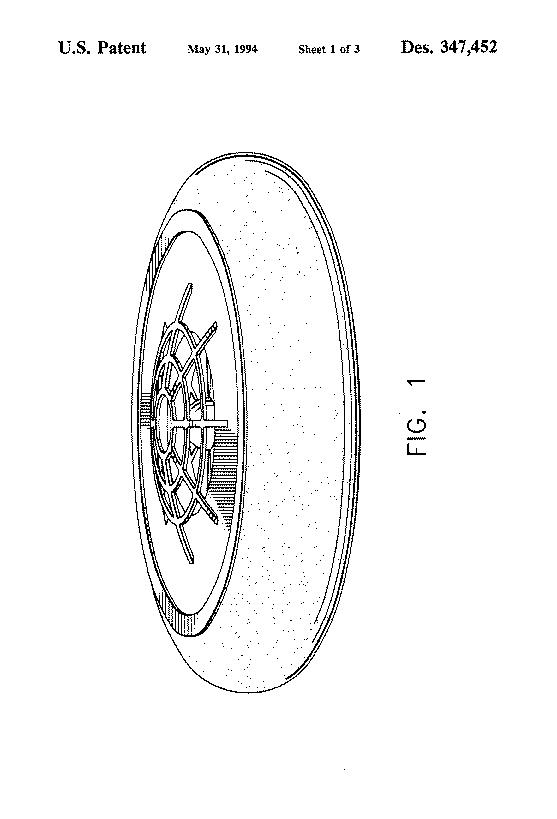 US Patent D347452
