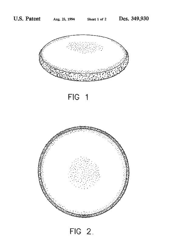 US Patent D349930