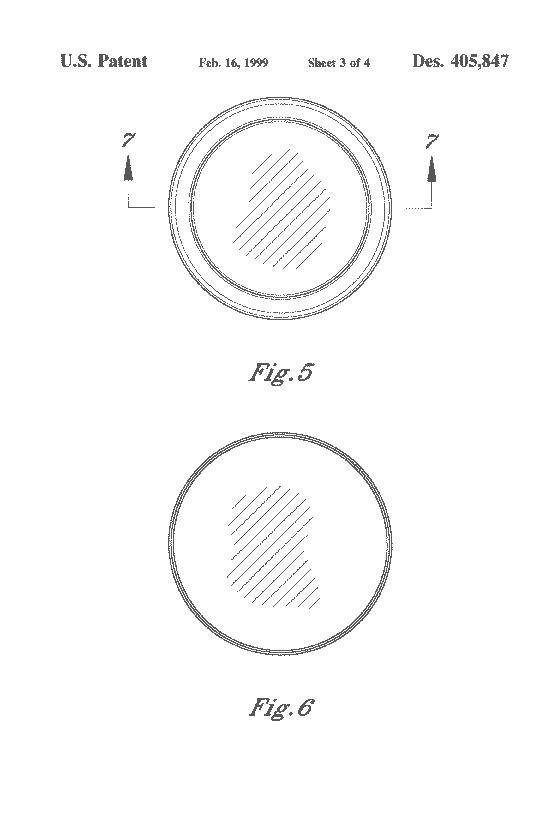 US Patent D405847