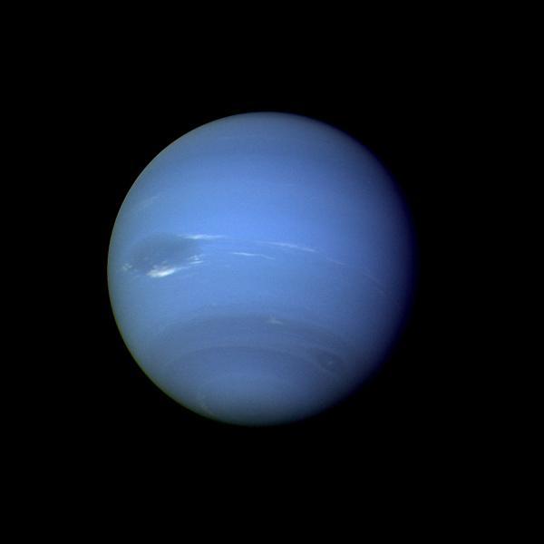 full globe image of neptune