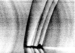 Photograph of T-38 shock waves